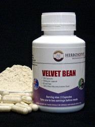 Velvet Bean Loose Powder & Capsules @ Herbosophy