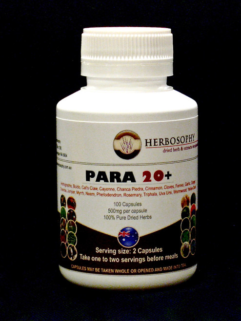 Para 20+ Blend (20 Synergistic herbs, blended into a powerhouse intestinal cleanse)