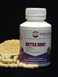 Nettle Root Loose Powder or Capsules @ Herbosophy