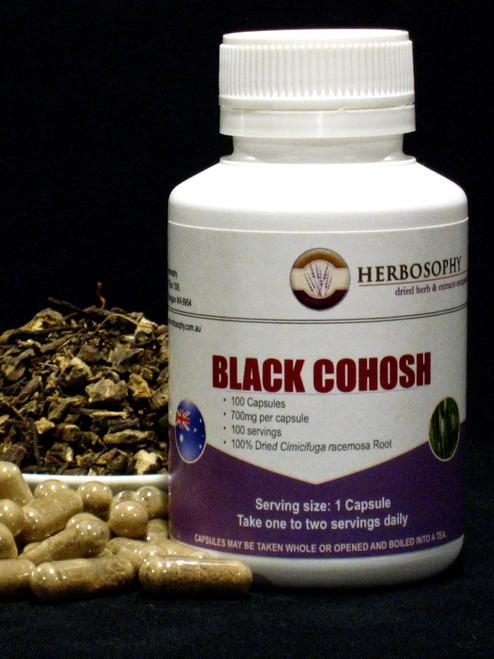 Black Cohosh Loose Herb, Powder or Capsules @Herbosophy