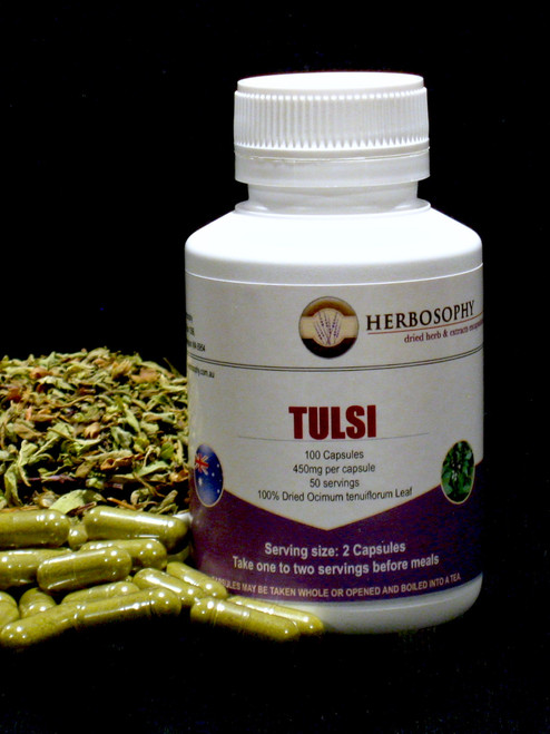 Tulsi (Holy Basil) Capsules & Loose Tea @ Herbosophy