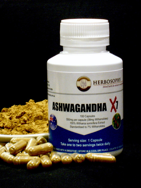 Ashwagandha Extract Capsules & Loose Powder @ Herbosophy