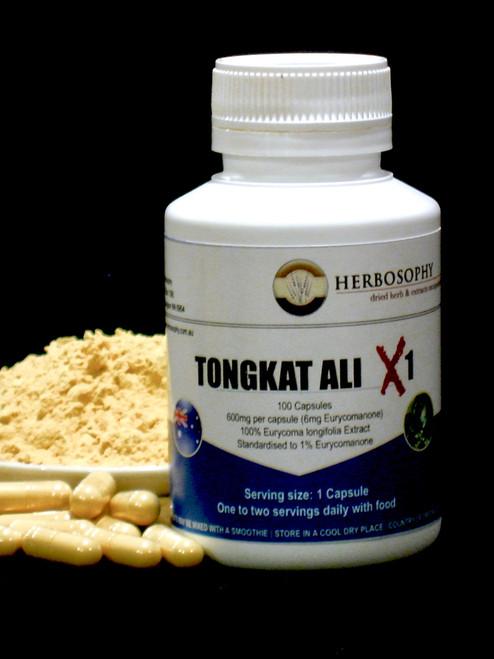 Tongkat Ali X1 (1% Eurycomanone) Capsules & Loose Powder