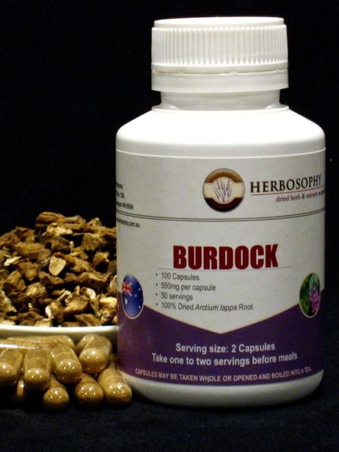 Burdock root Loose Herb, Powder or Capsules @ Herbosophy