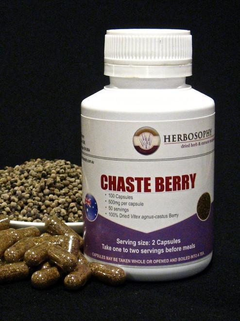 Vitex Capsules, berries & Powder @ Herbosophy