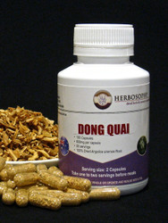 Dong Quai Loose Herb, Powder or Capsules @ Herbosophy