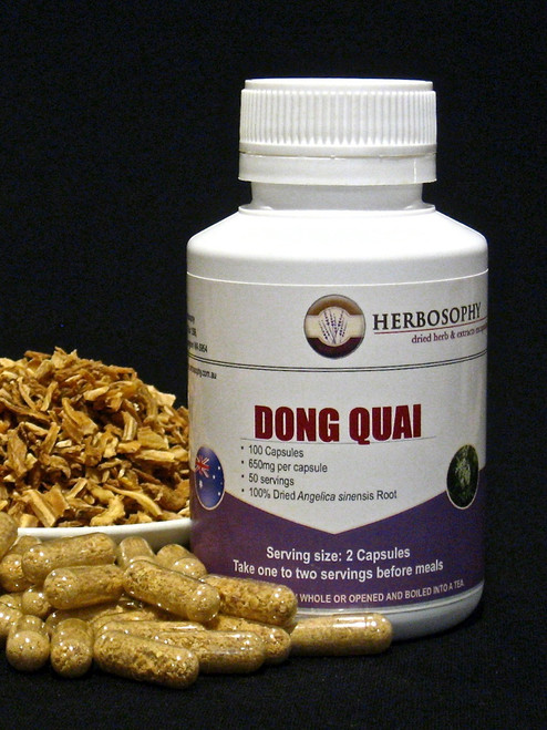 Dong Quai Loose Herb, Powder or Capsules @ Herbosophy