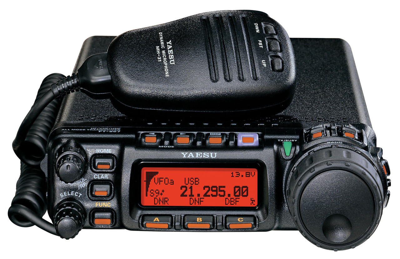 Yaesu FT-857D with YSK-857 All Mode HF/VHF/UHF+6M Mobile Transceiver