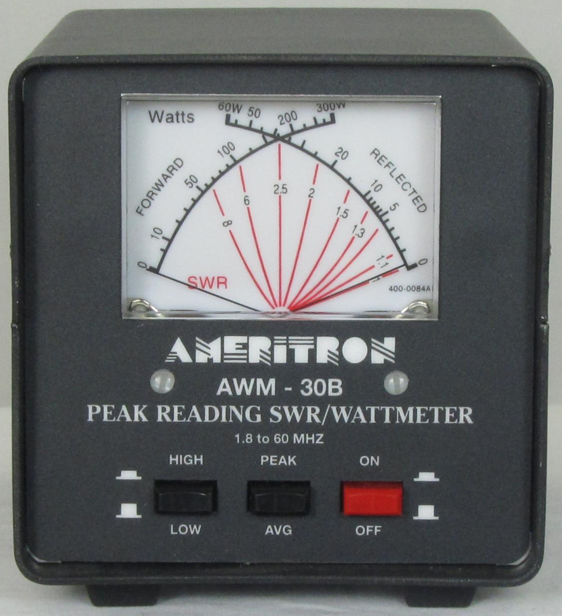 Ameritron AWM-30B HF+6M SWR/WATTMETER 3000 Watt
