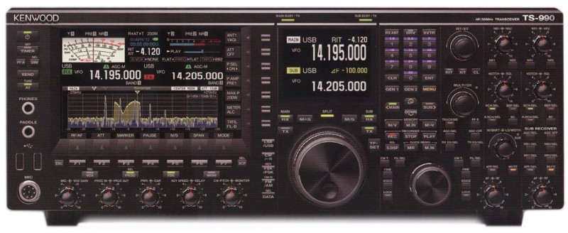 KENWOOD TS-990S HF + 6 METER TRANSCEIVER 200W DUAL RECEIVE