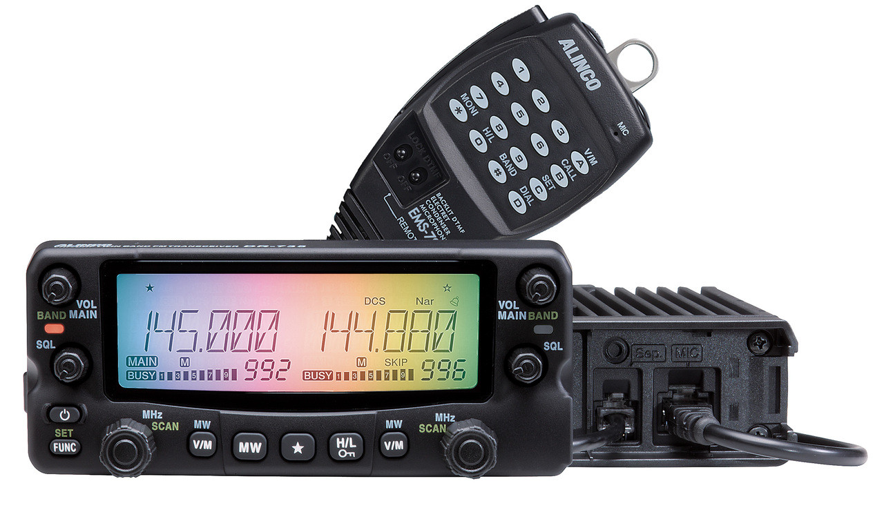 Alinco DR-735T VHF/UHF Dual Band Full Duplex Transceiver