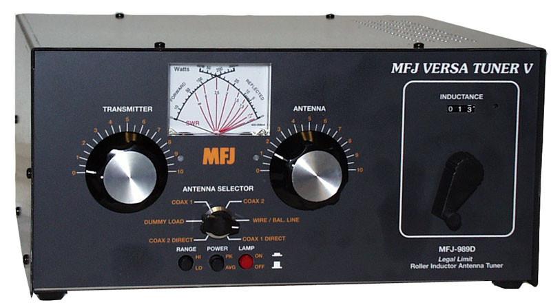 MFJ-989D ANTENNA TUNER, 1 8-30 MHZ, LEGAL POWER Sale