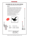 Blackbird VHF/UHF JPOLE Tactical Base Antenna 2M/70CM