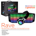 HYPERGEAR RAVE BLUETOOTH SPEAKER & HEADPHONES - BLACK