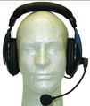 MFJ-393K   Deluxe Headset Microphone for Kenwood