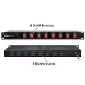 Eliminator Lighting E-107 Switchable Power Strip Rack Mount