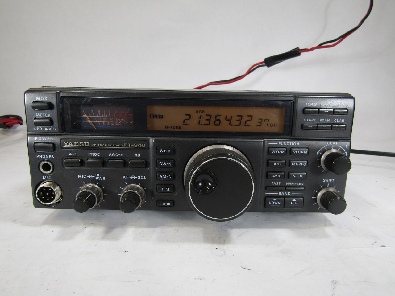 U4985 Used YAESU FT-840 SSB/CW/AM 100W HF HAM RADIO TRANSCEIVER