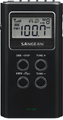 SANGEAN DT-180 AM/FM STEREO DIGITAL TUNING POCKET RADIO (BLACK)