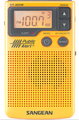 SANGEAN DT-400W AM/FM/NOAA WEATHER EMERGENCY ALERT DIGITAL TUNING POCKET RADIO WITH BUILT IN SPEAKER (YELLOW)