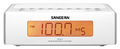 SANGEAN RCR-5 AM/FM DIGITAL TUNING CLOCK RADIO (WHITE)