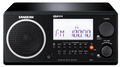 SANGEAN WR-2 AM/FM-RBDS WOODEN CABINET DIGITAL TUNING RECEIVER WITH CLOCK / ALARM & MULTI-FUNCTION REMOTE (BLACK)