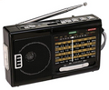 QFX AM/FM/SW 10 BAND RADIO WITH FLASHLIGHT AND USB/TF PLAYER