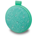 iLive Water Resistant Wireless Fabric Speaker, ISBW8, Teal Bluetooth