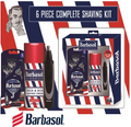 Barbasol - 6 Piece Holiday GIft Set | Nose & Ear Trimmer | 4 Pack Razors | Shaving Cream
