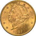 Liberty Head $20 1907D Gold  Double Eagle INVESTMENT COIN