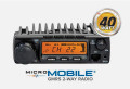 Package Deal Midland MXT400 MXT400 GMRS 40 Watt MicroMobile With 5/8 NMO Antenna