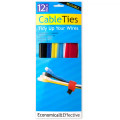 Reusable Hook and Loop Cable Ties Pack of 12