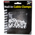 30-piece Nail-in Cable Clamps Set