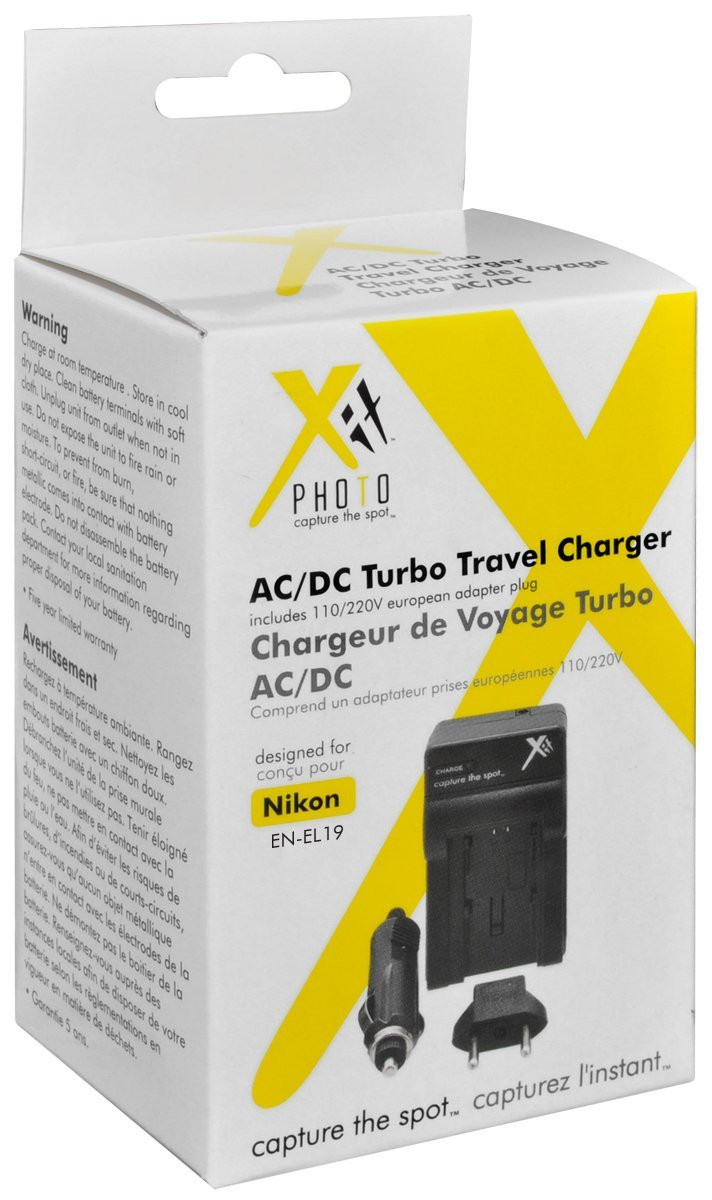 Xit Xtchenel19 Battery Charger For Nikon En El19 Battery Black