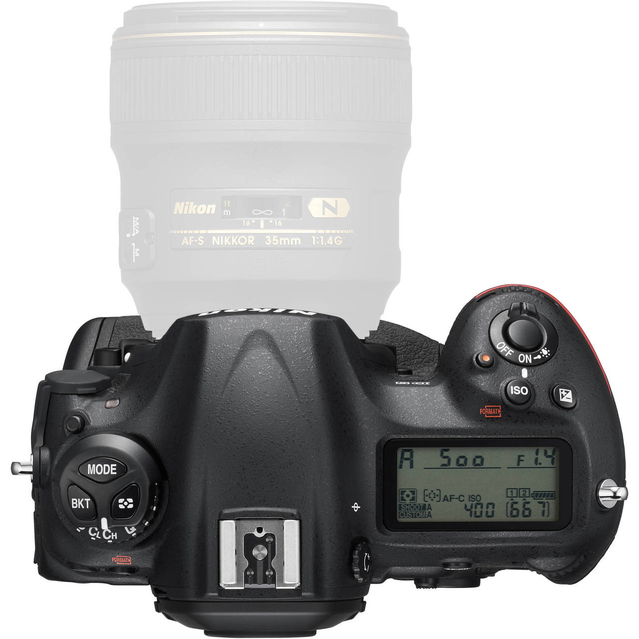 Nikon D5 Body with Dual CF Slots Top