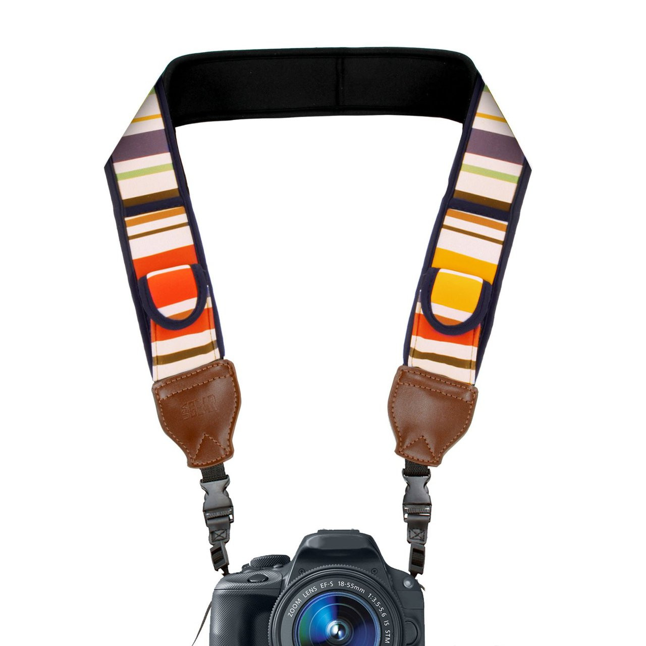 Black Tamrac Quick Release Cotton Strap for DSLR and Mirrorless Cameras