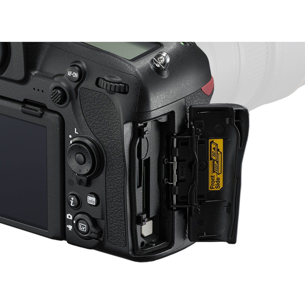 Nikon D850 Battery Slots (XQD and SD UHS-II)