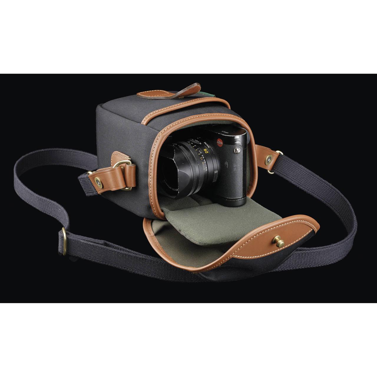 Billingham 72 Small Camera Bag Black Canvas Tan Leather Ace Photo