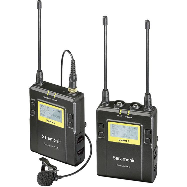 Saramonic UWMIC9 RX9 + TX9, 96-Channel Digital UHF Wireless Lavalier Mic System (514 to 596 MHz)