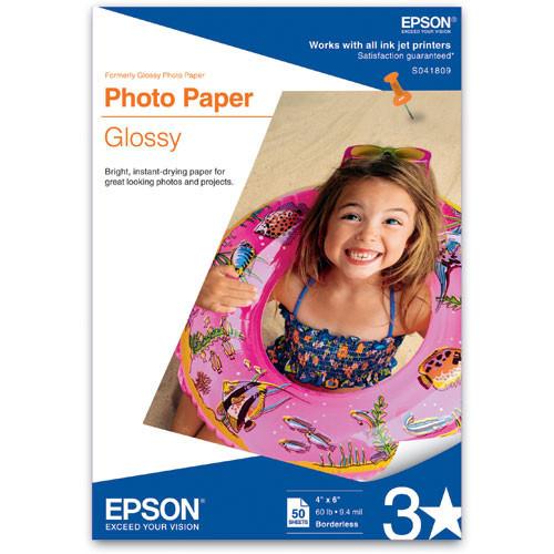 Epson Glossy Photo Paper Borderless for Inkjet - 4x6