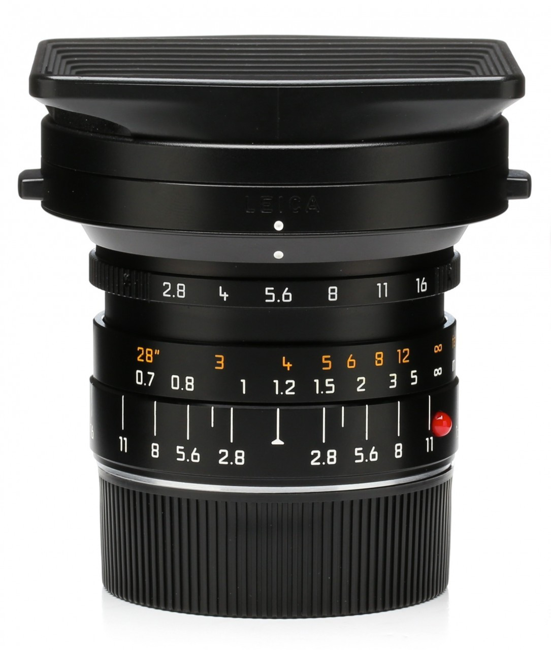Pre-Owned Leica Elmarit-M 21MM F/2 8 ASPH (Black) w/Hood  Made In Germany  6bit