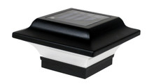 "2.5"" x 2.5"" Black Solar Aluminum Post Cap - Best solar post cap available on the market!"