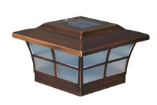 6x6 Solar Post Cap (Nominal) - Copper Finish