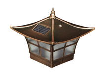 Six by Six Copper Plated Solar Post Cap