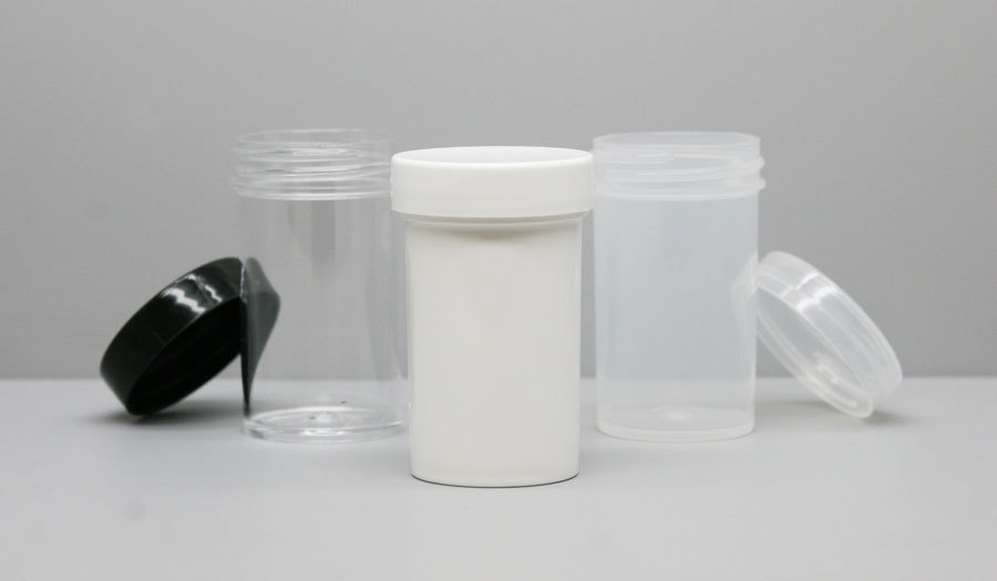 These 43mm - 2oz plastic jars -- in white, clarified or black - are popular storage options among the dispensaries