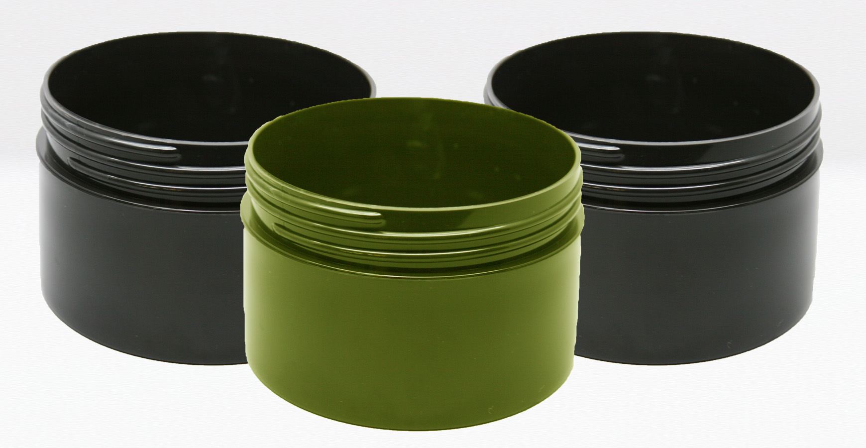 Wide-mouth, BPA-free plastic jars keep your pet's pot fresh.