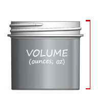 View Jar Sizes by Ounces / Volume / Height