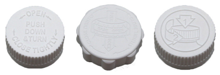 Plastic jars with screw-tight lids and child resistant closures