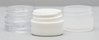 These tiny jars are popular among the makeup, cosmetic and skincare industries for use with products such as lip balm and eye serums.