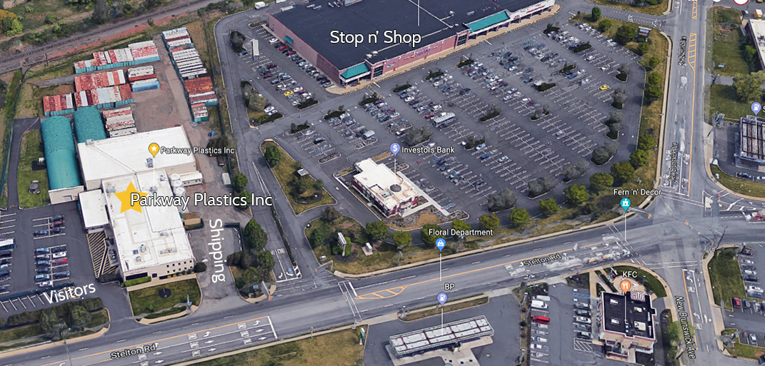 Street view map of Parkway Plastics Location in Piscataway, NJ