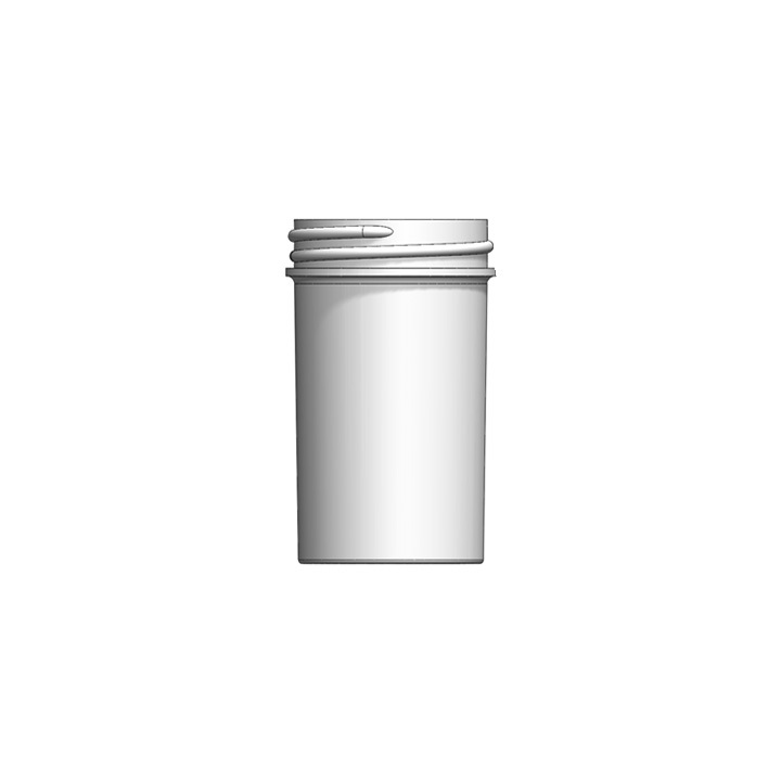 These 43mm - 2 oz jars - in white, clarified or black - are popular storage options at dispensaries